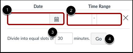Configurar um Intervalo de Tempo para Compromisso