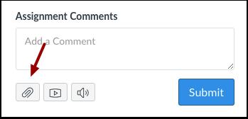 Adicionar Arquivo ao Comentário