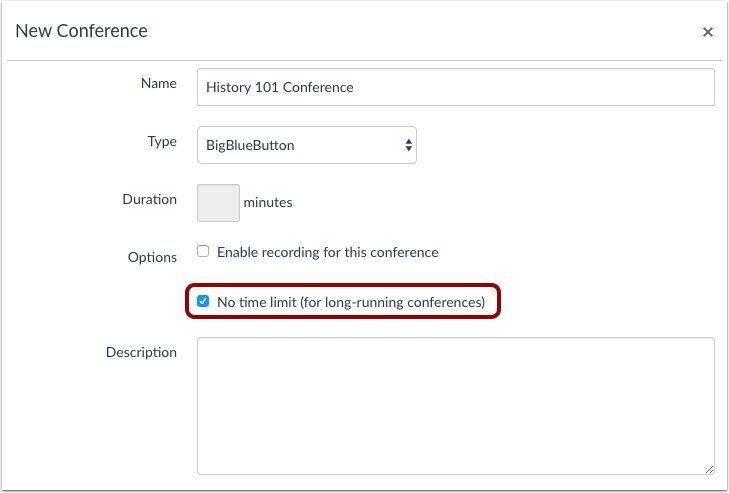 View Long-Running Conferences