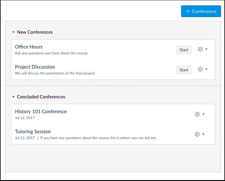 Quando usaria o Conferences como instrutor?