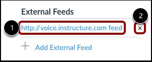 View External Feeds