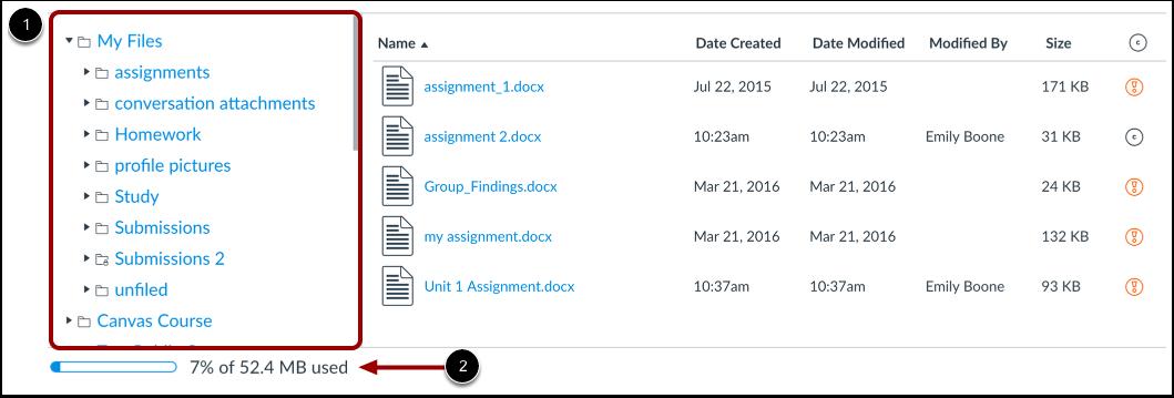 Visualizar Arquivos de Usuário