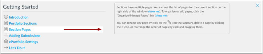 View Section Pages