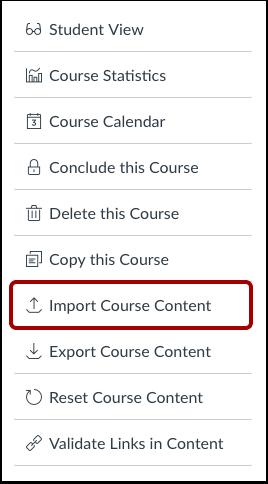 ¿Cuándo se debe utilizar la herramienta de importación del Curso?