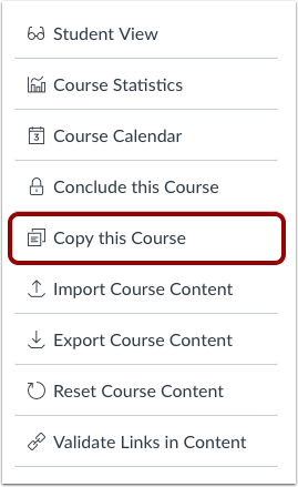 Copy Course Content Button