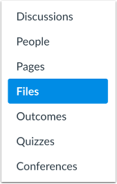Import through Files