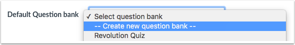 Create Question Bank