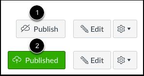 Botão Publicar