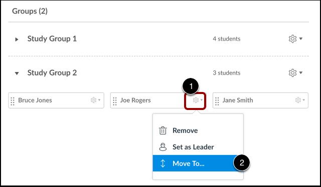 Move Student via User Settings