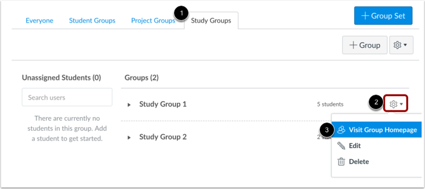 View Group Home Page