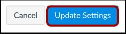 Atualizar Configurações