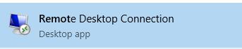 Q: Access the Remote Desktop Connection
