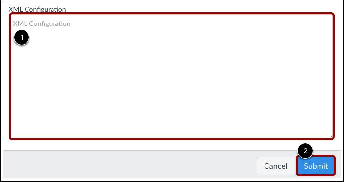 Enter Configuration XML
