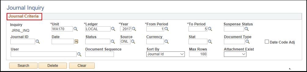 Journal Criteria