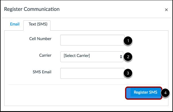 Register SMS: United States