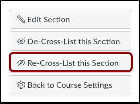 Sección para volver a combinar listas