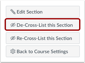 De-Cross-List This Section