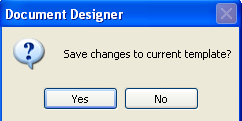 Saving the Changes to the Document Design