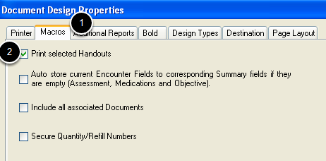 Placing the Print Handouts Command on the Document Design