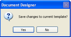 Save the Changes to the Document Design