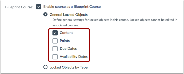 How do i enable a course as a blueprint course canvas lms define general locked objects malvernweather Image collections