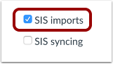 Enable SIS Imports