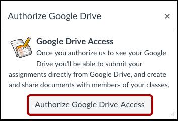 Autorizar Google Drive