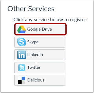 Registrer Google Drive