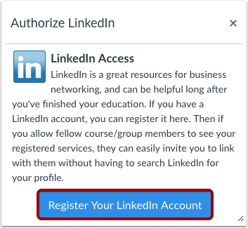 Authorize LinkedIn Access