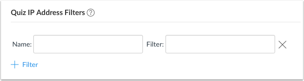 View Quiz IP Address Filters