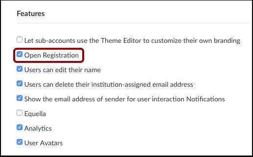 Open Registration