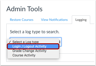 Select Log Type
