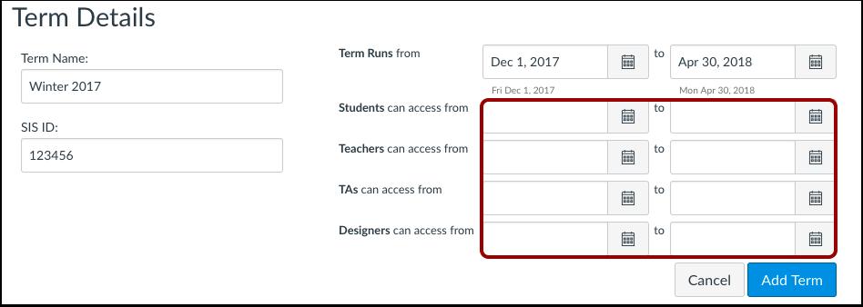 Add User Dates