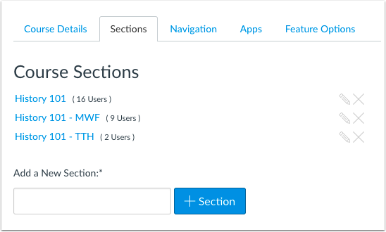 Add Sections