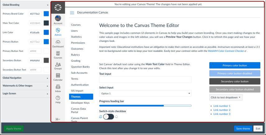 View Theme Editor
