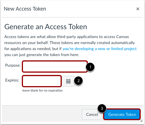 Enter Token Information