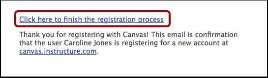 Completar el proceso de registro