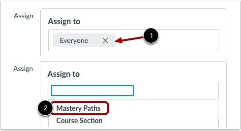 Assign to MasteryPaths