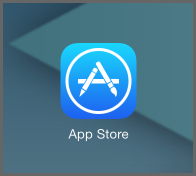 On your iPad or iPhone, open the App Store Icon