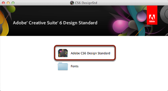 Double Click on Adobe CS6 Design Standard