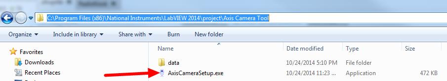 Axis Camera Setup Tool