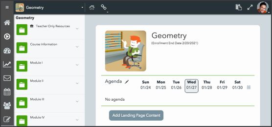 Creating agendas with the Activities tool