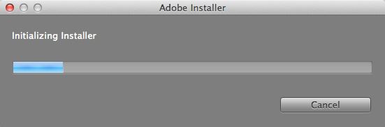 Wait for the Adobe Installer to Initialize