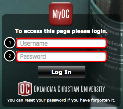 Login to your MyOC account