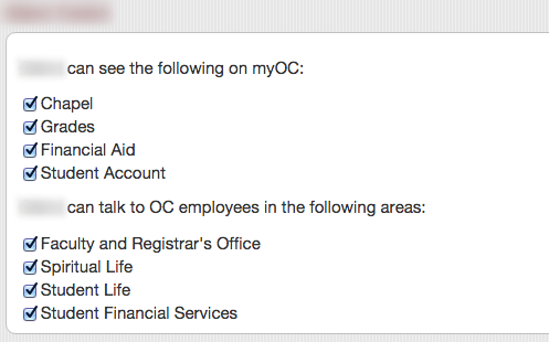 Check the permissions you would like to give access to