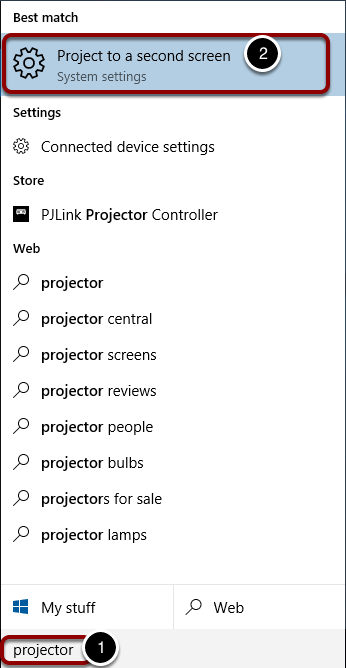 "Search for ""projector"""