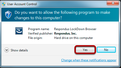 "Click ""Yes"" to Allow the Program to Install on Your Computer"