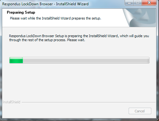 Wait for the Install to Prepare (May Take a Few Minutes)