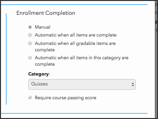 Configure continuous enrollment completion criteria