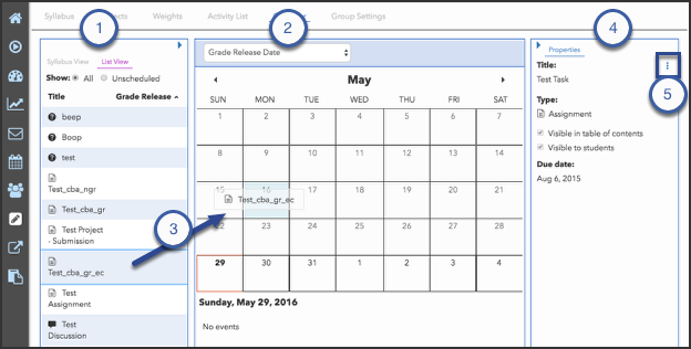Scheduling tab